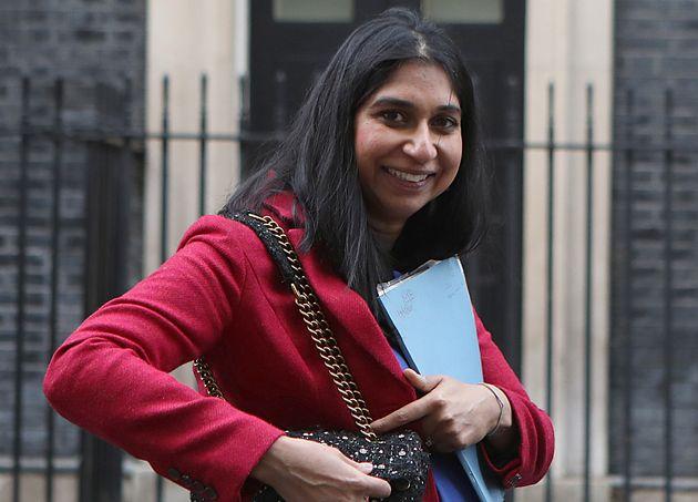 Suella Braverman, Attorney General, in Downing Street,