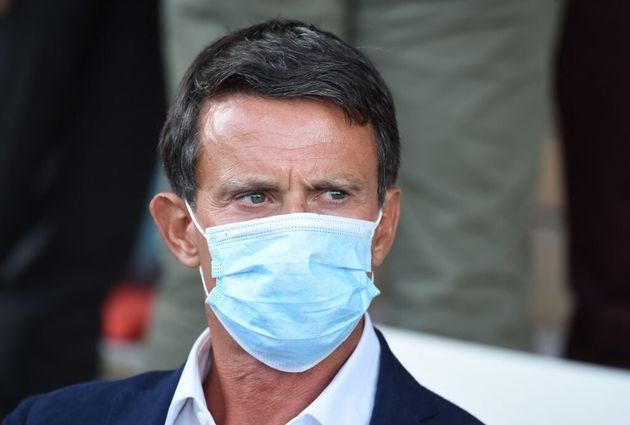 Manuel Valls à l'université d'été du Medef près de Paris le 27 août