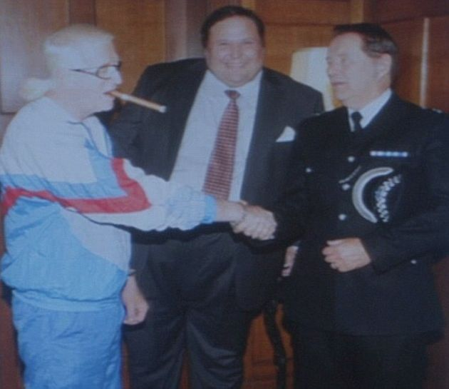 Dale Roach (middle) and Chief Superintendent Patrick Fairbank had fictional links to real life sex offender Jimmy Savile