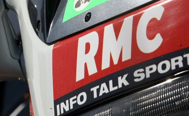 Un logo RMC lors du Tour de France