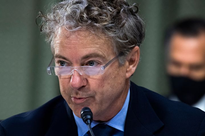 Sen. Rand Paul (R-Ky.) attends a markup before the Senate Foreign Relations Committee hearing on March 24.