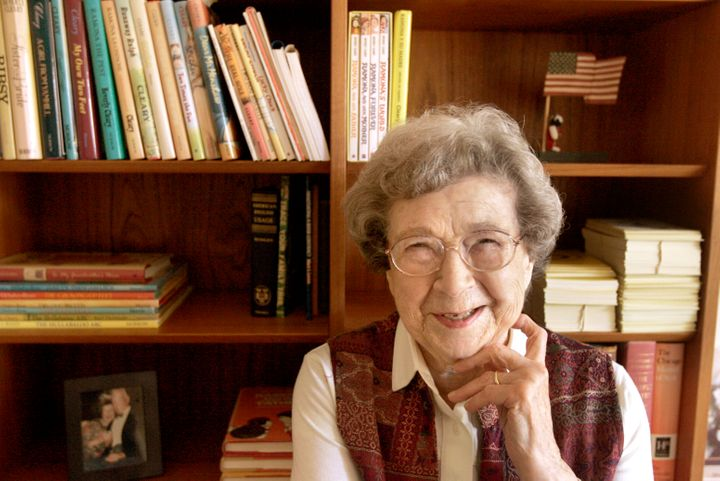 Beverly Cleary at home in Carmel Valley.