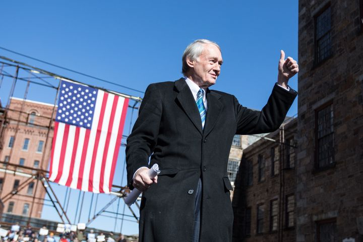 "Sen. Ed Markey (D-Mass.) says, ""This bill lays out a plan for massive job creation within the United States, so that a"
