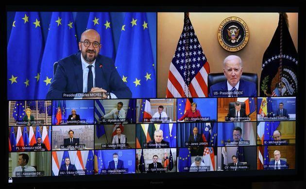 Σύνοδος Κορυφής ΕΕ 25 Μαρτίου 2021 Στη Σύνοδο παρενέβη και ο Αμερικανός Πρόεδρος Τζο