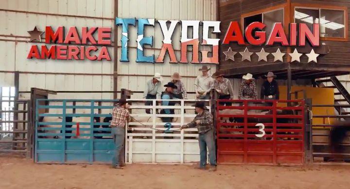 """Make America Texas Again,"" urges New Jersey-born Daniel Rodimer."