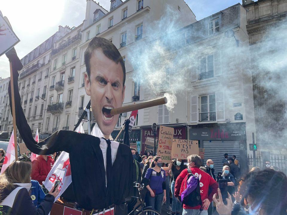 """La manifestation à Paris pour une """"vraie loi climat"""", le 28 mars 2021"""