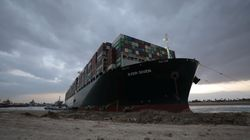 Massive Ship Blocking Suez Canal 'Partially Refloated' But Still 'Stuck In