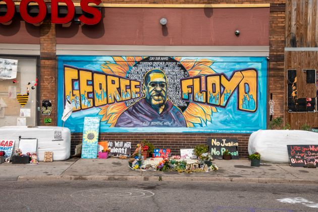 Minneapolis, Minnesota, George Floyd memorial at 38th and Chicago who was killed by police. (Photo by:...