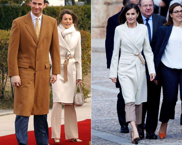 La reina en 2005 y en 2019.