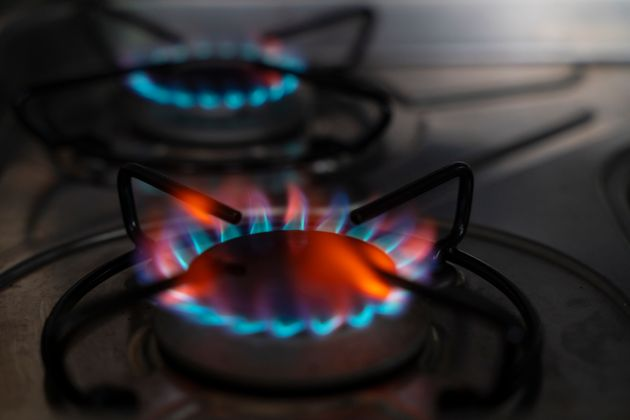 Two burning gas stove