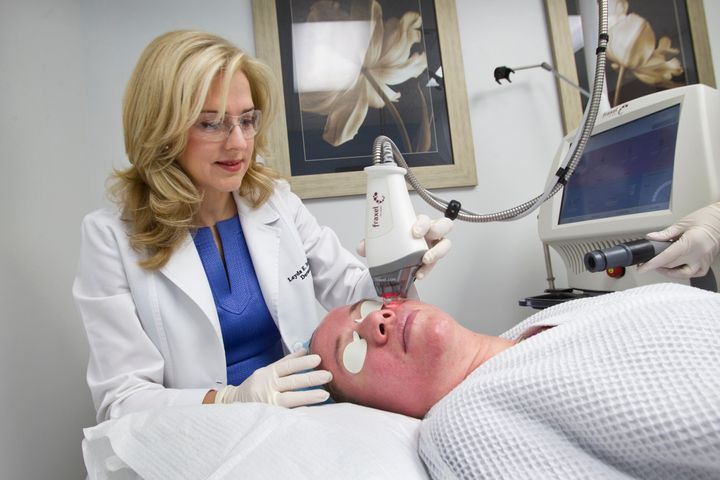 Fraxel laser treatments can be effective in decreasing the size of pores.