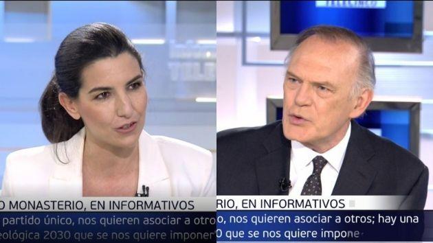 Rocío Monasterio y Pedro