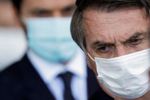 Jair Bolsonaro, ici à Brasilia le 24 mars 2021, a remanié son gouvernement . REUTERS/Ueslei