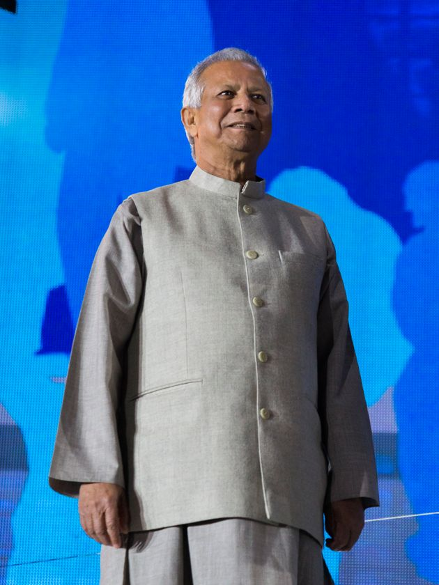 Prof. Muhammed Yunus, Nobel Peace Prize winner AND foundier of the Grameen Bank during the celebration...