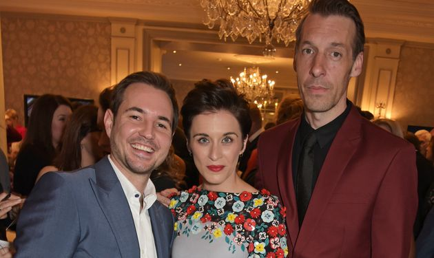 Martin Compston, Vicky McClure and Craig Parkinson pictured in