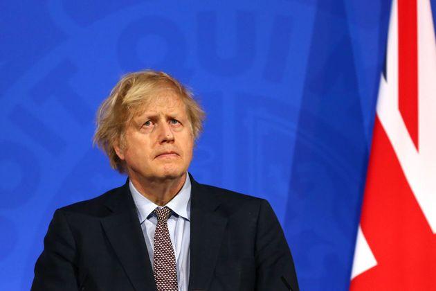 El primer ministro de Reino Unido, Boris Johnson, durante una rueda de