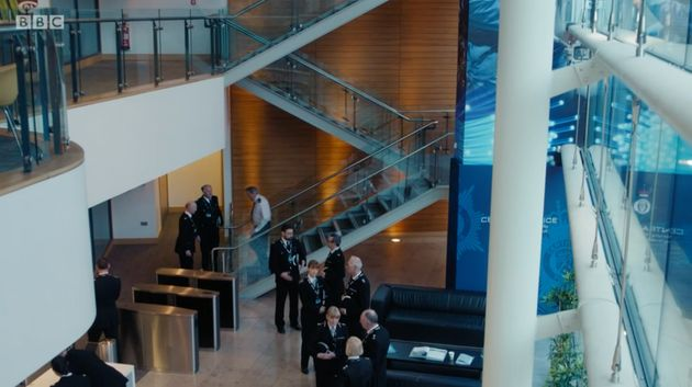 The foyer of AC-12's HQ belongs to theInvest NI offices in
