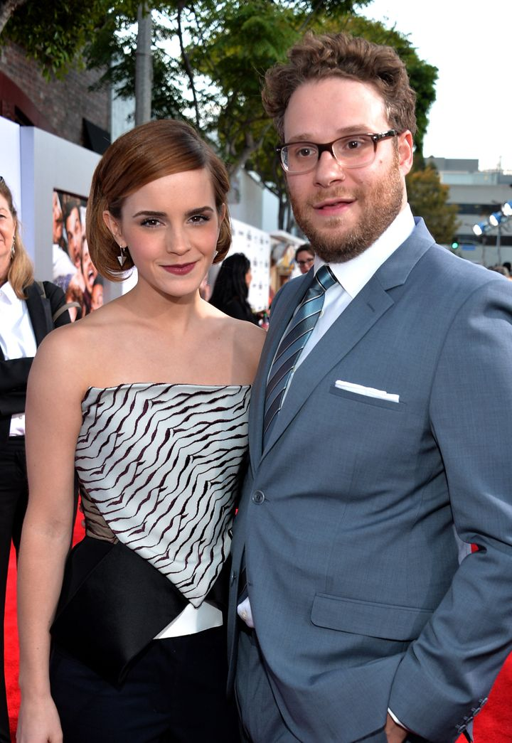 "Emma Watson and Seth Rogen attend ""This Is The End"" premiere in 2013."
