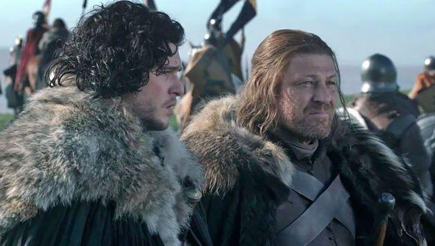 Jon Snow y Ned Stark en 'Juego de