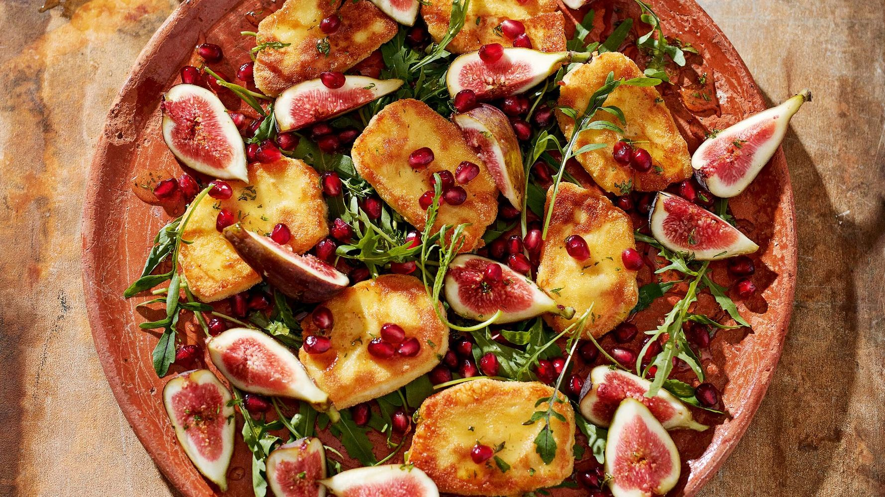 This Halloumi Saganaki Recipe With Figs And Honey Is Spot On