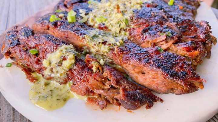 Yessica Infante's washed flour brisket with chimichurri sauce.