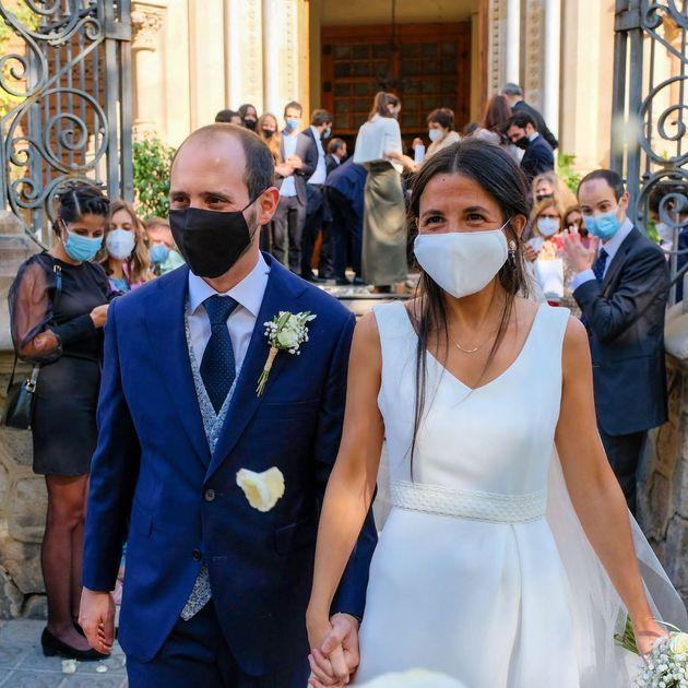 Patricia, durante su boda en Barcelona en octubre de