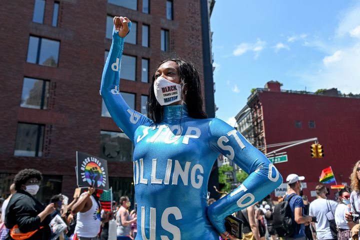 """I've always been passionate about making a statement,"" said Jam, seen at a New York demonstration last Jun"