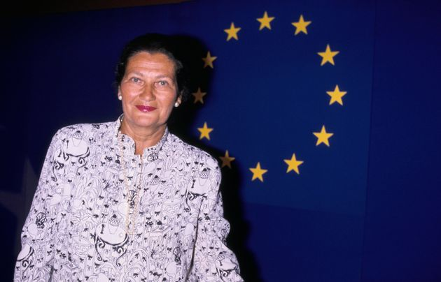 FRANCE - MAY 21: Simone Veil In Lyon On May 21st, 1989 In Lyon,France (Photo by Frederic REGLAIN/Gamma-Rapho...