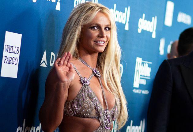 Britney Spears sur le tapis rouge des GLAAD Media Awards, le 12 avril 2018 à Beverly