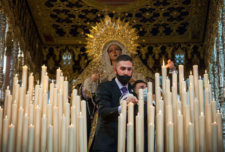 Procesión de la Hermandad del Rescate en Málaga