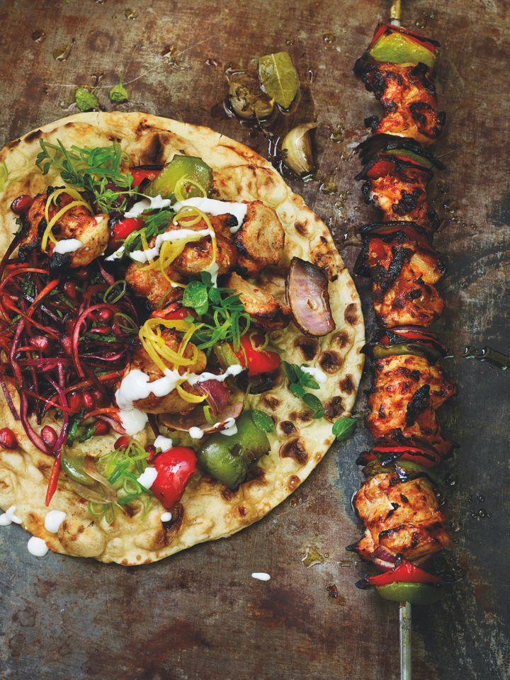 Buttermilk chicken shish kebab
