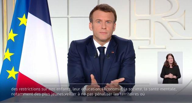 Emmanuel Macron le 31 mars 2021 à