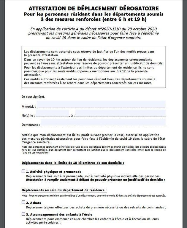 Les deux attestations de déplacement qui concerneront tous les Français à partir du 6