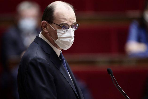 Le premier ministre Jean Castex s'exprimant à la tribune de l'Assemblée nationale jeudi 1er