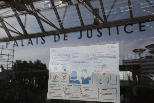 Le Palais de justice de Bobigny, près de Paris, le 20 avril 2020. (Photo by LUDOVIC MARIN/AFP via Getty