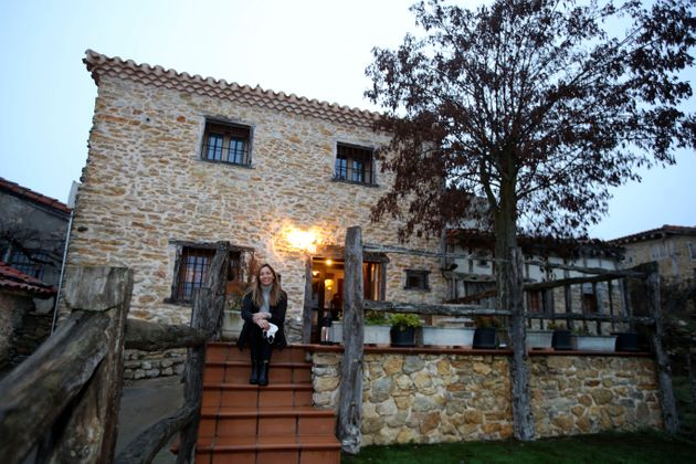 La eurodiputada Susana Solís en el hotel rural de La Cuenca