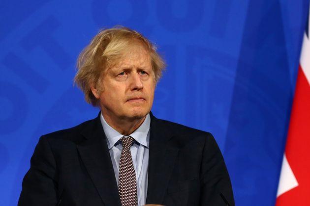 Boris Johnson, durante una reciente rueda de prensa sobre coronavirus, en