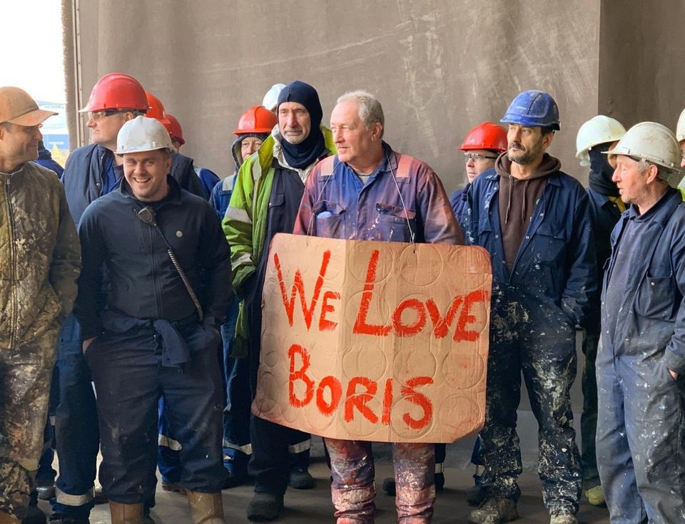 Teesside engineering workers during the 2019