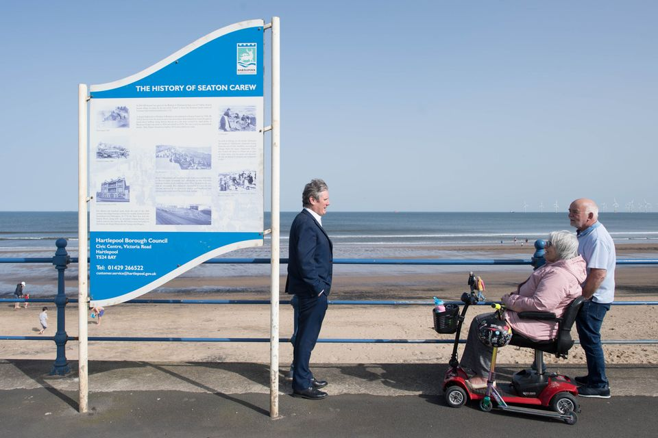 Keir Starmer in Seaton Carew,