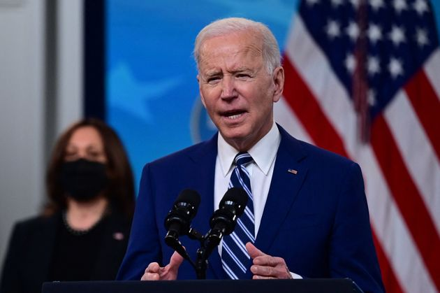 President Joe Biden said on March 25 he did not believe American troops would be in Afghanistan next year.