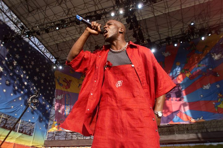 DMX performs at Woodstock '99 in Rome, New York, in July 1999.