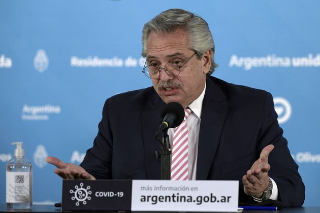 Le président argentin Alberto Fernandez, ici à Buenos Aires, le 12 août