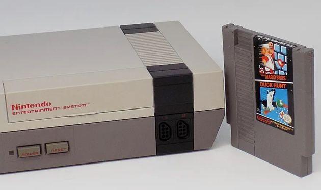 Une cartouche du jeu de NES