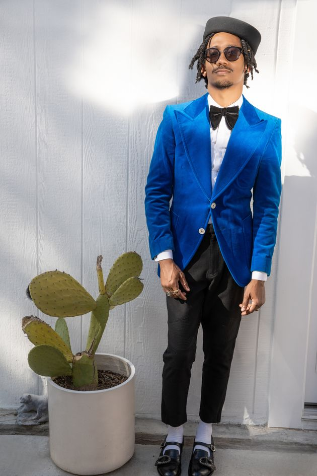 Griffin Matthews shows off his SAG Awards look on March 31 in Los