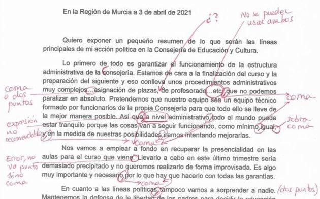 Correcciones de un grupo de docentes del documento de María Isabel
