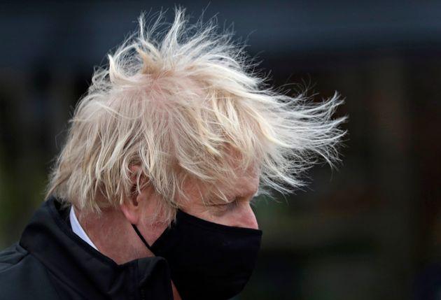 MIDDLESBROUGH, ENGLAND - APRIL 01: British Prime Minister Boris Johnson visits a B&Q diy store on April...