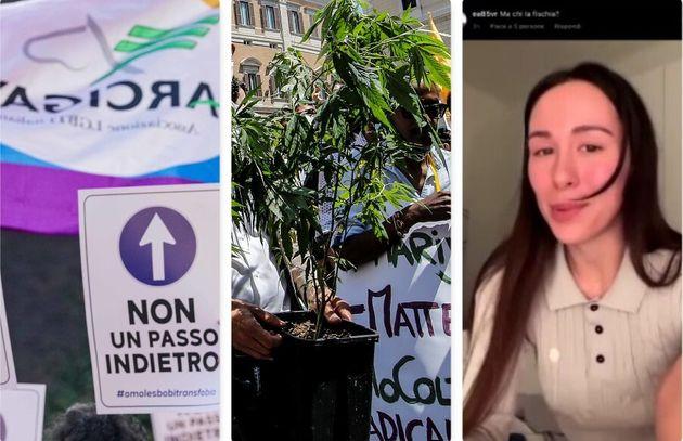 Omofobia e ddl Zan, liberalizzazione droghe leggere, Aurora Ramazzotti e il