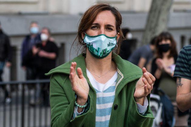 Mónica García, de Más Madrid, el pasado 14 de