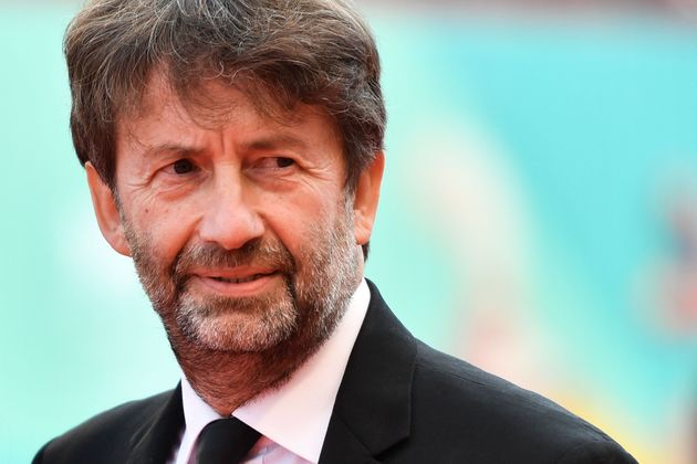 Italy's Culture minister Dario Franceschini arrives to attend the awards ceremony of the 76th Venice...
