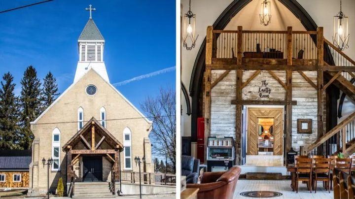 Το πριν και το μετά της, ηλικίας 133 ετών, εκκλησίας στον Καναδά